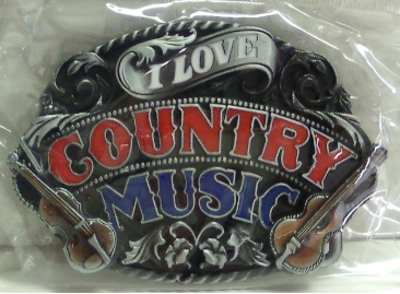 I Love Country Music Belt Buckle
