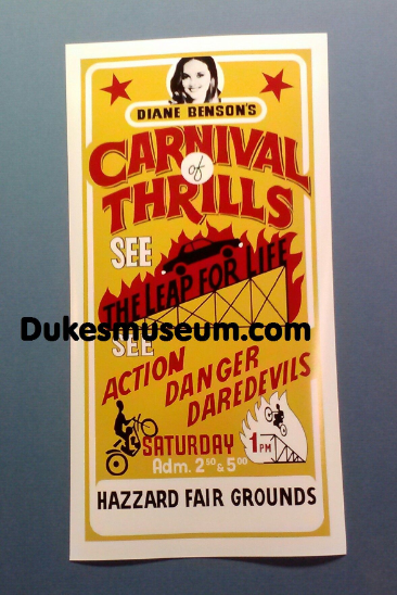 "Carnival Of Thrills 8 1/2"" x 16"" Poster"
