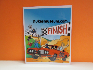 The Dukes Finish Line Cartoon Photo