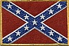 "Confederate Flag Patch 4"" x 5.5"""