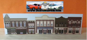 "Hazzard County Square Standee  24"" x 6 1/2"""