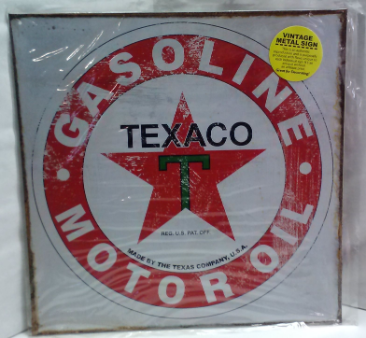 Texaco Logo Tin Sign