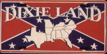 Confederate Dixie Land License Plate