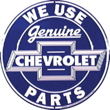 Chevrolet Parts Tin Sign