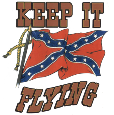 Keep It Flying Rebel  3'x5'