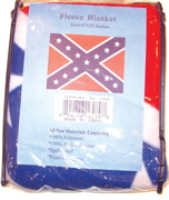 Confederate Flag  Fleece Blanket