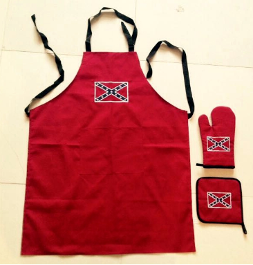 Confederate Logo Apron, Hot Pad & Glove 3-Piece Set