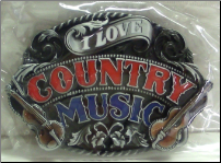 I Love Country Music Belt Buckle (SKU: BU251)