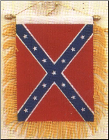 Mini Confederate Banner Suction Flag (SKU: FL8706)