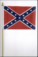 "Rebel Stick Flag  12"" x 18"" (SKU: FL8627)"