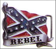 Rebel Flag Belt Buckle (SKU: BU248)