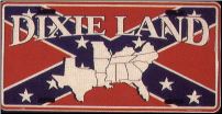 Confederate Dixie Land License Plate (SKU: MP8899)