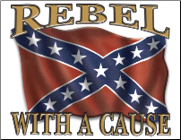 Rebel with a Cause Flag  3'x5' (SKU: R7210)