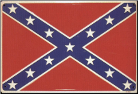 "Confederate Flag Tin Sign 12"" x 18"" (SKU: tinsign)"
