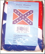 Confederate Flag  Fleece Blanket (SKU: RL1796)
