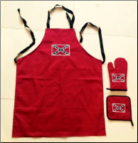 Confederate Logo Apron, Hot Pad & Glove 3-Piece Set (SKU: MF1051REB)