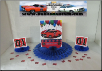 "General Lee Celebration 8"" Blue Fan Centerpiece (SKU: generalcenterpiece)"