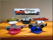 5 Car Table Top Party Decoration Set (SKU: allcarfans5)