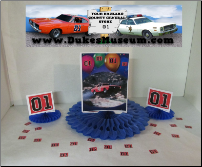 "Flying General Lee 8"" Blue Fan Centerpiece (SKU: flyinggeneralcenterpiece)"