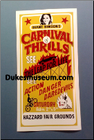 "Carnival Of Thrills 6 1/4"" x 12"" Poster (SKU: carnival6x12poster)"