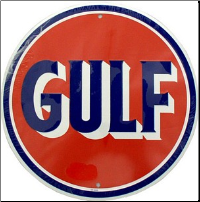 Gulf Round Tin Sign (SKU: msgulf)