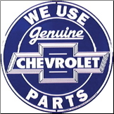Chevrolet Parts Tin Sign (SKU: ms204)