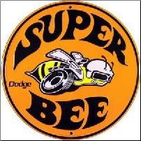 Dodge Super Bee Round Tin Sign (SKU: MS251)