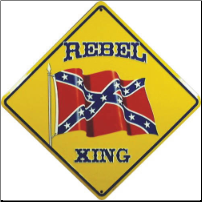 Rebel Crossing Tin Sign (SKU: RL1806)