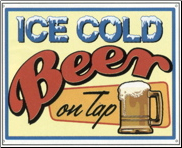 Ice Cold Beer Sign (SKU: TN162)