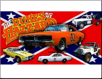 General Lee & All Dukes Cars Banner Photo (SKU: generalandallcarsbanner)