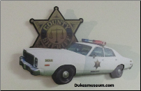 Sheriff Car 3-D  Wall Art
