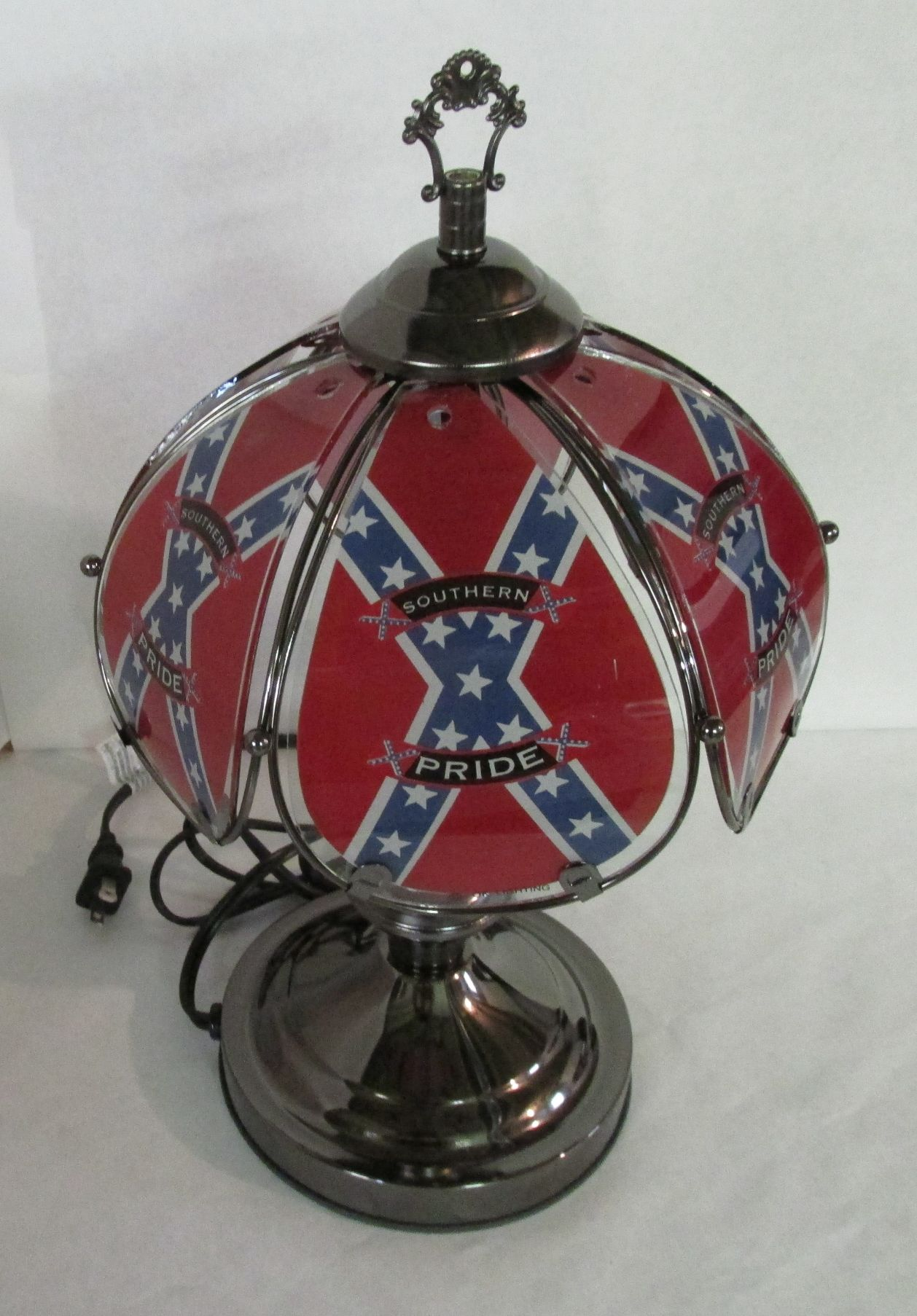 Confederate Flag Touch Lamp